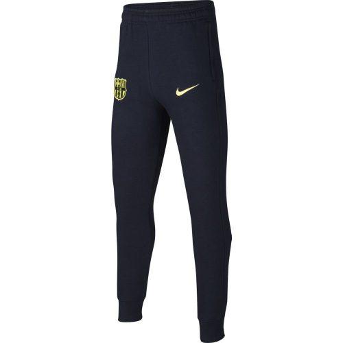 Nike FC Barcelona GFA Fleece Joggingbroek Kids Donkerblauw Geel