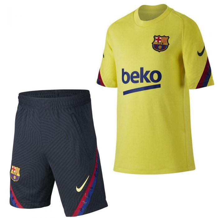 Nike FC Barcelona Strike Trainingsset 2019-2020 Kids Geel Blauw
