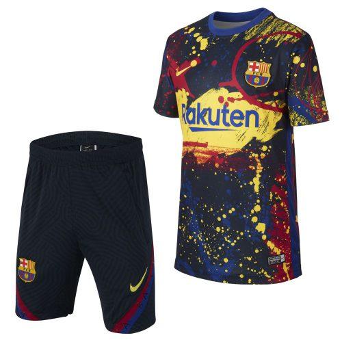 Nike FC Barcelona Trainingsset Kids Blauw Rood Geel