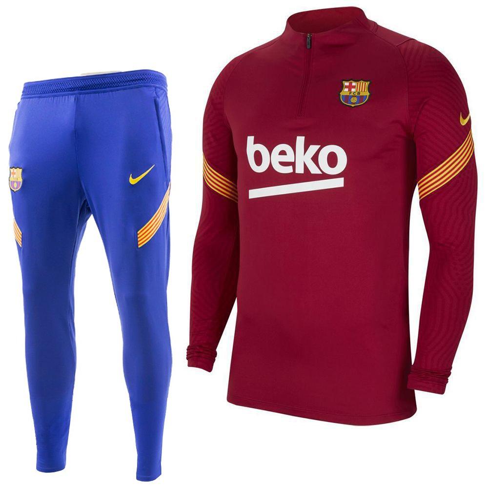 Nike FC Barcelona Strike Trainingspak 2020-2021 Kids Rood Blauw Geel