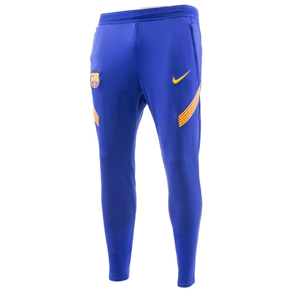 Nike FC Barcelona Dry Strike Trainingsbroek KP 2020-2021 Blauw Geel