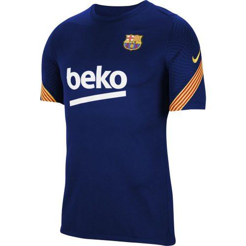 Nike FC Barcelona Strike Trainingsshirt 2020-2021 Donkerblauw