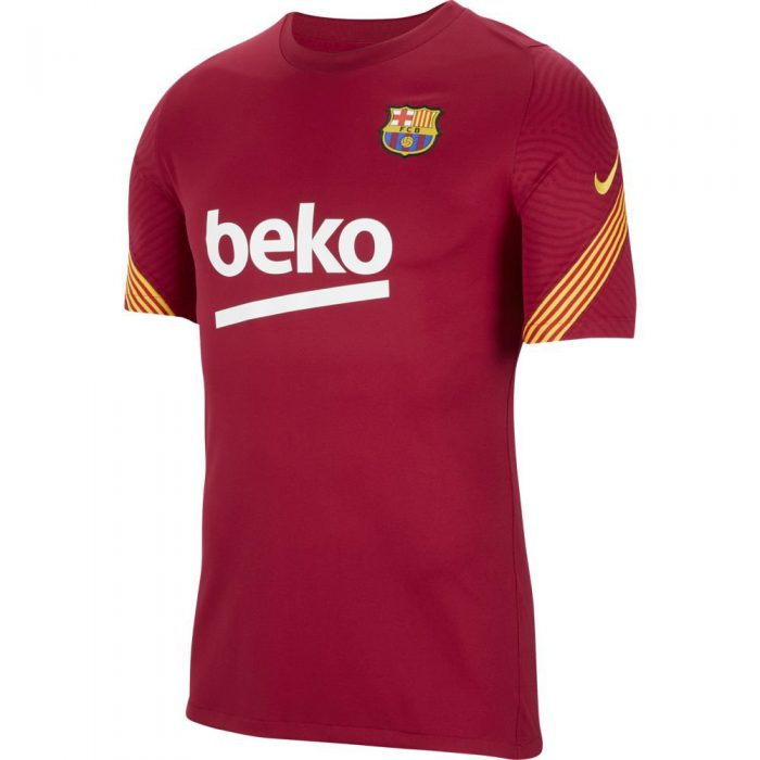 Nike FC Barcelona Breathe Strike Trainingsshirt 2020-2021 Kids Rood