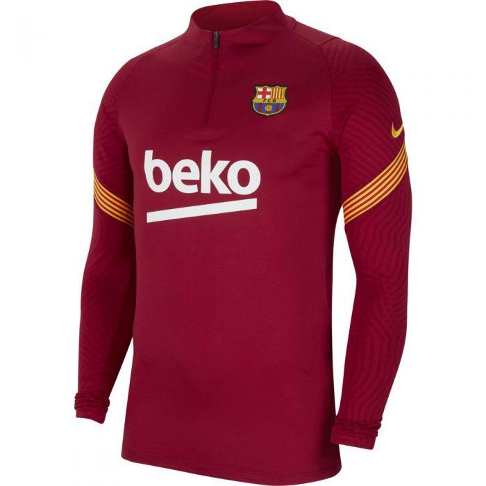Nike FC Barcelona Dry Strike Trainingstrui 2020-2021 Rood