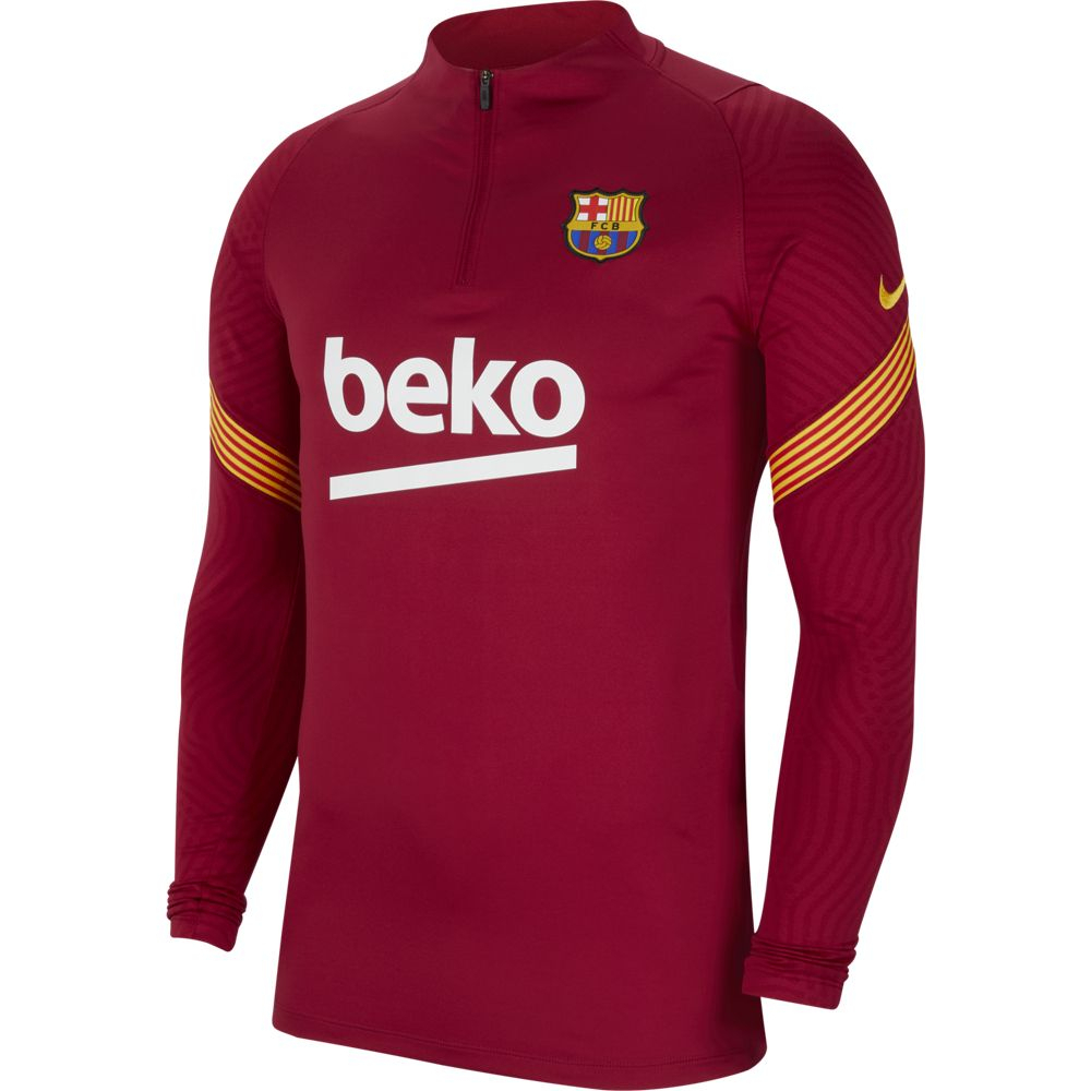 Nike FC Barcelona Dry Strike Trainingstrui 2020-2021 Kids Rood