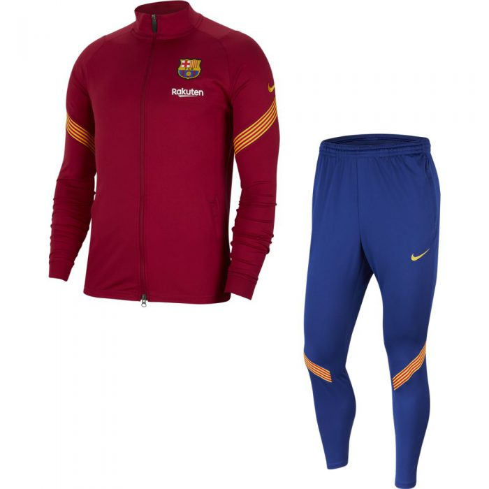 Nike FC Barcelona Dry Strike Trainingspak 2020-2021 Rood Blauw