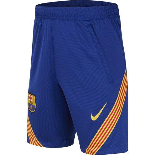 Nike FC Barcelona Dry Strike Trainingsbroekje KZ 2020-2021 Kids Blauw Geel