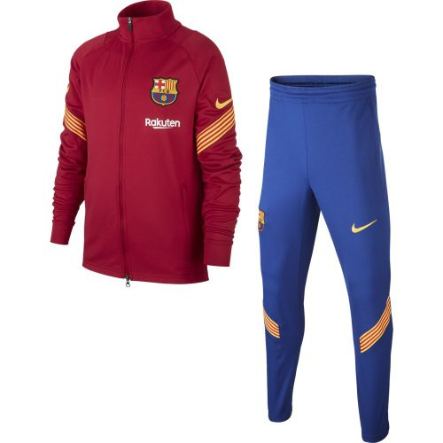 Nike FC Barcelona Dry Strike Trainingspak 2020-2021 Kids Rood Blauw