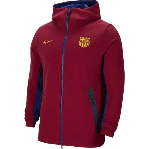 Nike FC Barcelona Tech Fleece Full Zip Hoodie 2020-2021 Kids Donkerrood