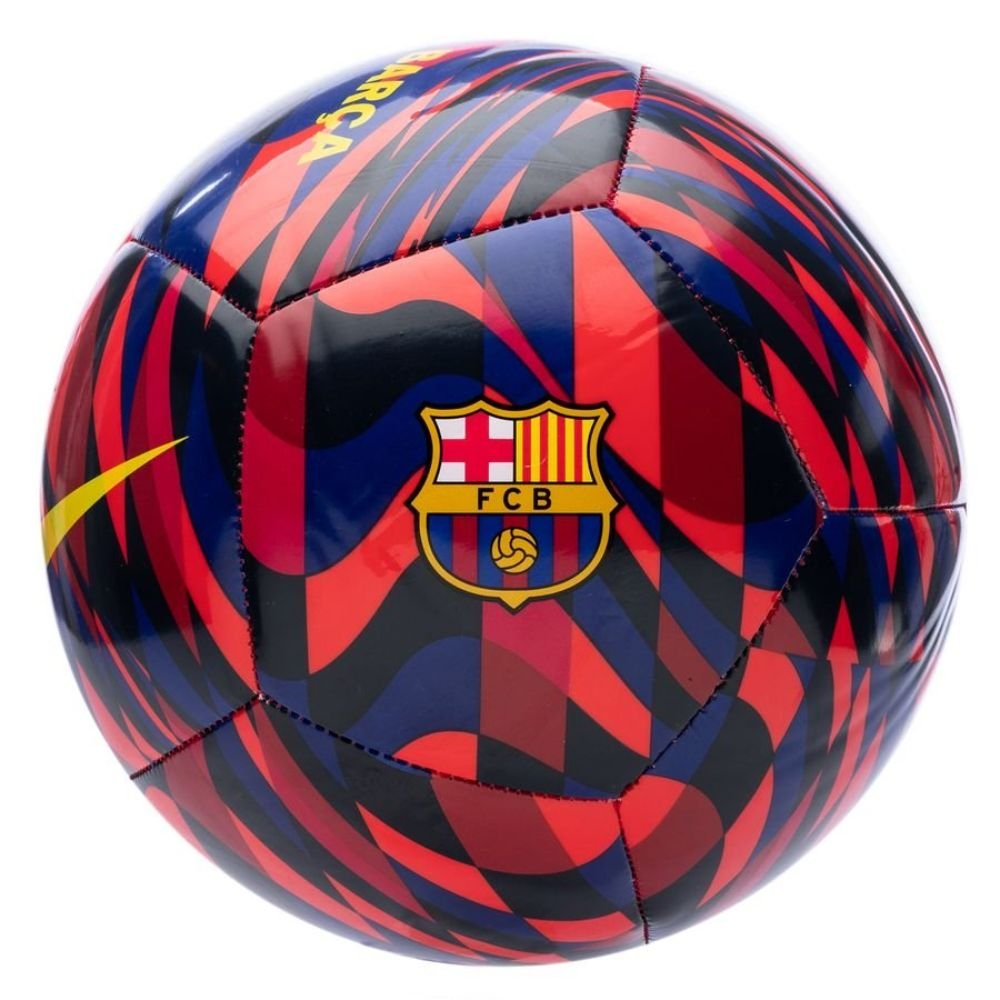Nike FC Barcelona Pitch Voetbal Maat 5 Donkerrood Blauw