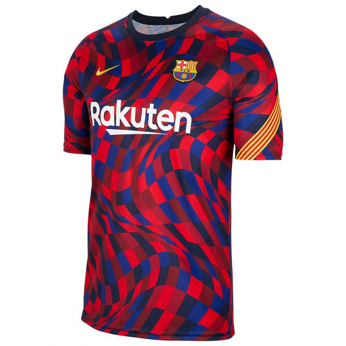 Nike FC Barcelona Dry Pre Match Trainingsshirt 2020-2021 Kids Rood