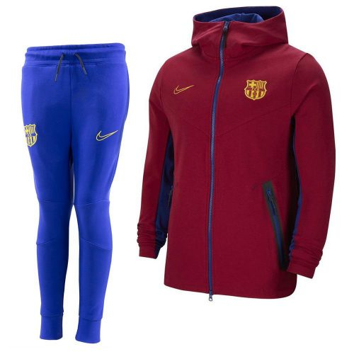 Nike FC Barcelona Tech Fleece Pack Trainingspak 2020-2021 Rood Blauw