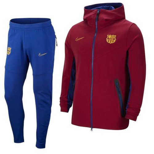Nike FC Barcelona Tech Fleece Trainingspak 2020-2021 Kids Rood Blauw