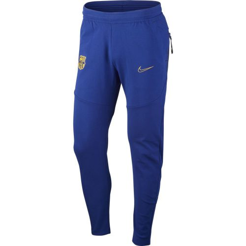 Nike FC Barcelona Tech Fleece Trainingsbroek 2020-2021 Kids Donkerblauw