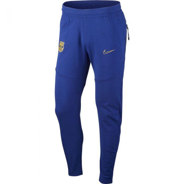 Nike FC Barcelona Tech Fleece Trainingsbroek 2020-2021 Kids Donkerblauw