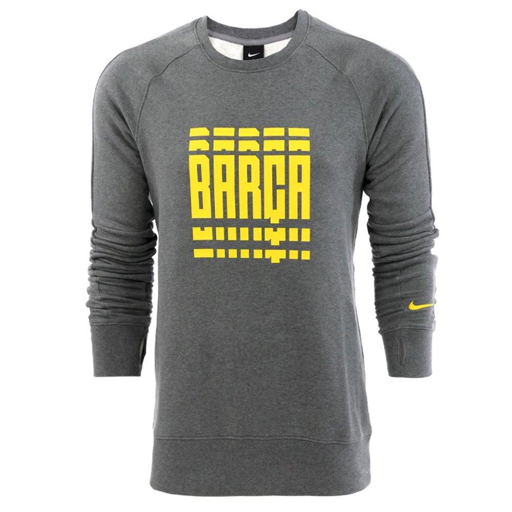 Nike FC Barcelona GFA Fleece Sweater 2020-2021 Grijs Geel
