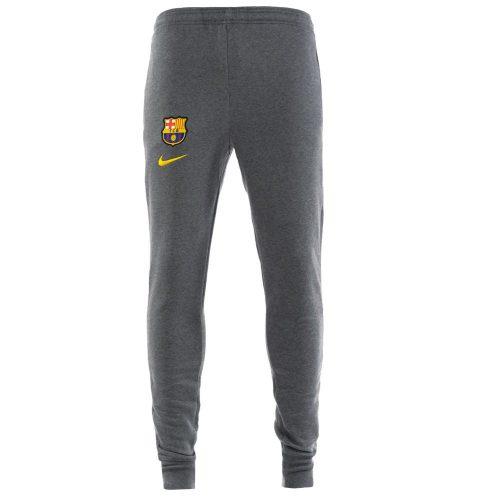 Nike FC Barcelona GFA Fleece Trainingsbroek KZ 2020-2021 Kids Grijs Geel