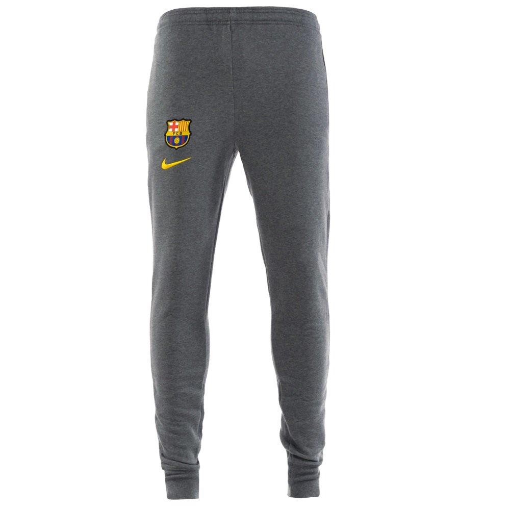 Nike FC Barcelona GFA Fleece Trainingsbroek 2020-2021 KZ Grijs Geel