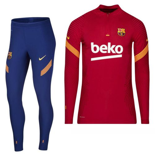 Nike FC Barcelona Strike VaporKnit Trainingspak 2020-2021 Rood Blauw Geel