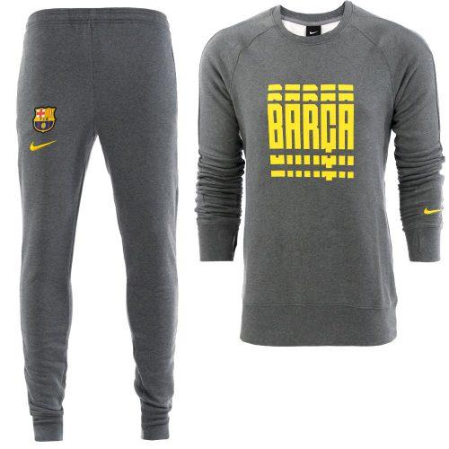 Nike FC Barcelona GFA Crew Trainingspak 2020-2021 Grijs Geel