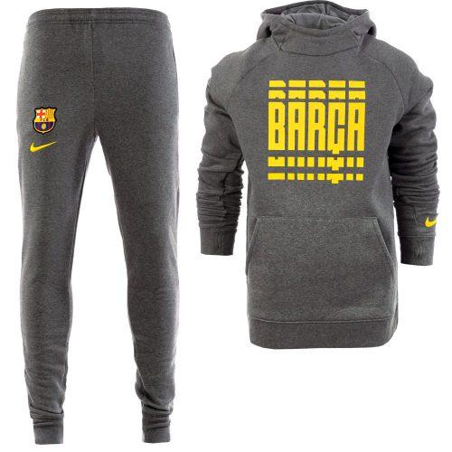 Nike FC Barcelona GFA Fleece Trainingspak 2020-2021 Kids Grijs Geel