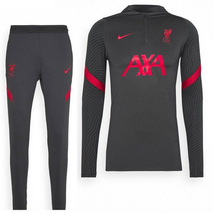 Nike Liverpool Dry Strike Drill Trainingspak 2020-2021 Kids Antraciet