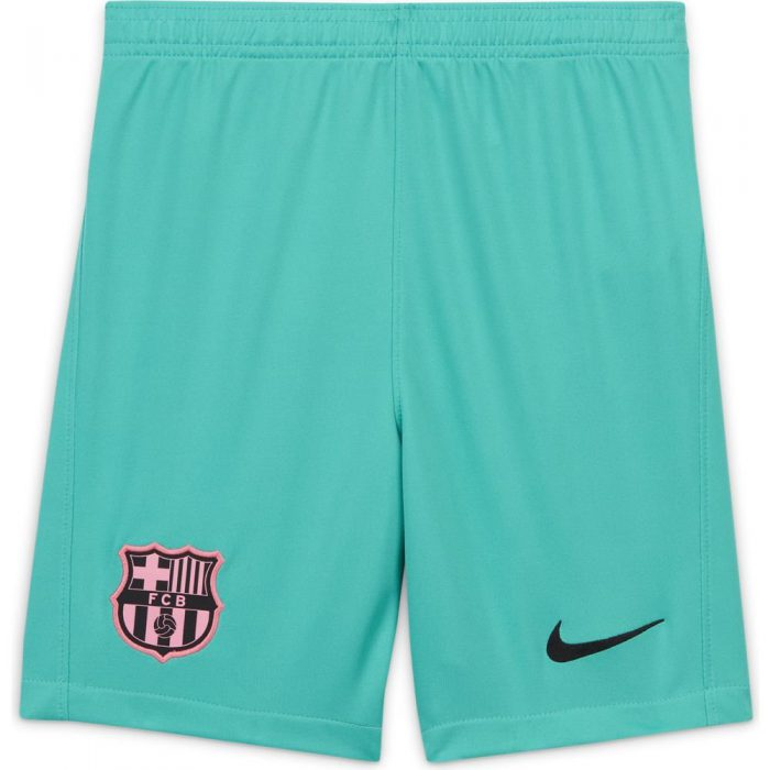 Nike FC Barcelona 3rd Voetbalbroekje 2020-2021 Kids Groen