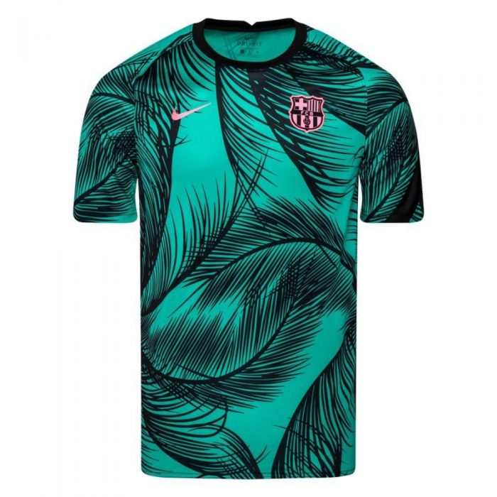 Nike FC Barcelona Dry Trainingsshirt Pre Match 2020-2021 Kids Groen