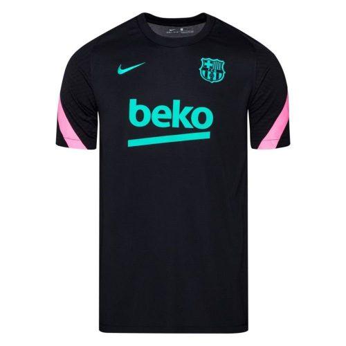Nike FC Barcelona Strike Trainingsshirt 2020-2021 Kids Zwart