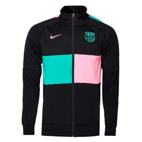 Nike FC Barcelona I96 Anthem Trainingsjack 2020-2021 Kids Zwart