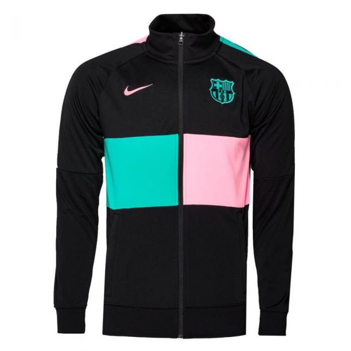 Nike FC Barcelona I96 Anthem Trainingsjack 2020-2021 Kids Zwart