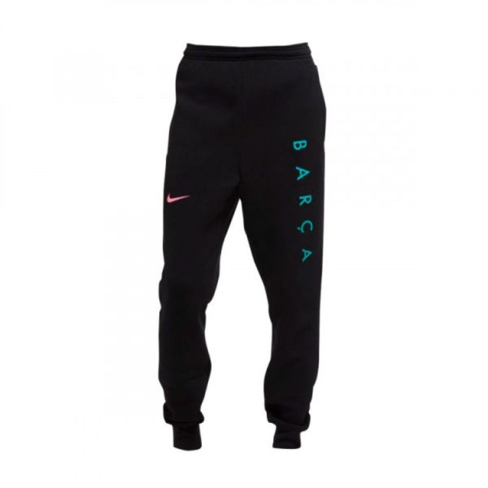 Nike FC Barcelona GFA Fleece Trainingsbroek KZ CL 2020-2021 Zwart Roze