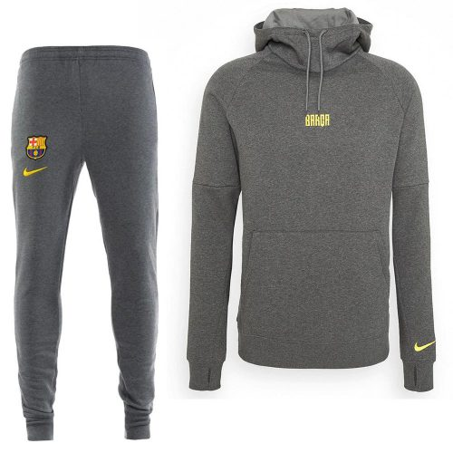 Nike FC Barcelona GFA Fleece Trainingspak 2020-2021 Grijs Geel