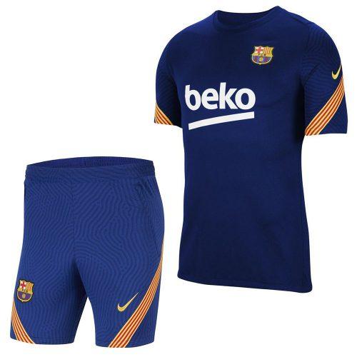 Nike FC Barcelona Dry Strike Trainingsset 2020-2021 Donkerblauw